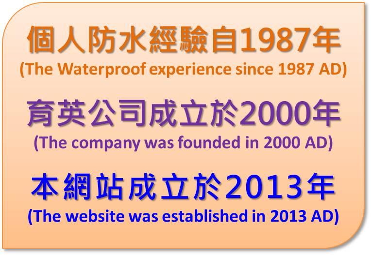 防水經驗公司起始網站成立